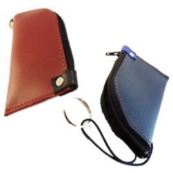 Porte-clés à zip petit en cuir | Mirly Maroquinerie - France
